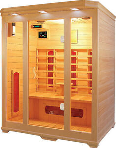 NEW CANADIAN SOLID WOOD HEMLOCK SAUNA 2 PERSON / 3 PERSON