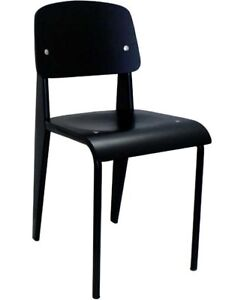 RESTAURANT INDUSTRIAL METAL DINING CHAIR WITH WOODEN SEAT