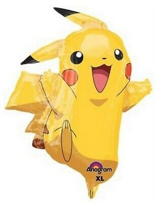 Pikachu Pokemon Large Foil Balloon Supershape Birthday Party Decorations - Balloon Pokemon