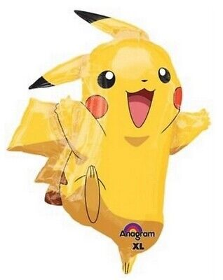 Pikachu Pokemon Large Foil Balloon Supershape Birthday Party Decorations