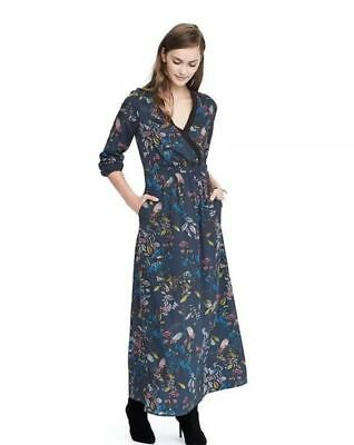 New Banana Republic Floral Wrap Maxi Dress Teal Size 2  Second Item ships free