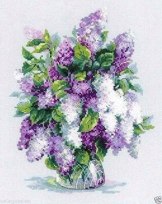 "Riolis Counted Cross Stitch Kit 9.5"" x 11.75"" ~ GENTLE LILAC #1447 Sale"