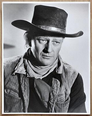 1 orginal altes Silber Gelantine SW Kino Film Foto Handabzug John Wayne