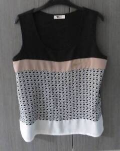 TEMT WOMANS SIZE MED PINK BLACK & WHITE TOP Barnsley Lake Macquarie Area Preview
