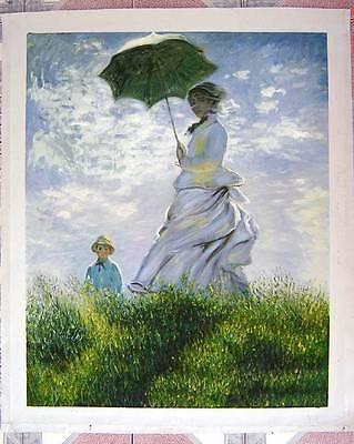 Ölbilder Ölgemälde Gemälde Monet: Madame Monet and her son 1875-61x81cm