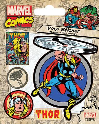 Marvel Comics (Thor Retro) Vinyl Stickers *OFFICIAL PRODUCT*
