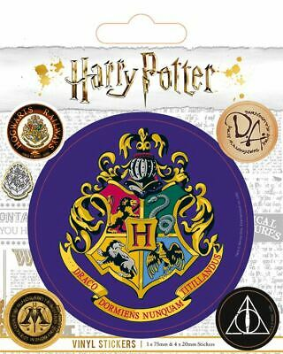HARRY POTTER Sticker Sheet with 5 x Vinyl Stickers (HOGWARTS)