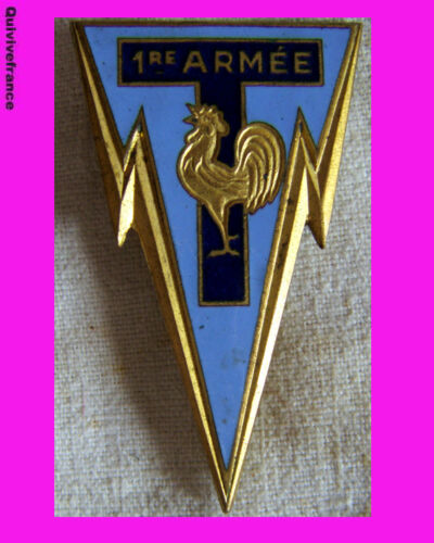 IN2401 - Transmissions 1° Army, Enamel, Back Smooth