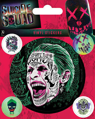Suicide Squad (The Joker) Vinyl Stickers *OFFICIAL PRODUCT*