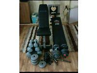 Weight bench & weights