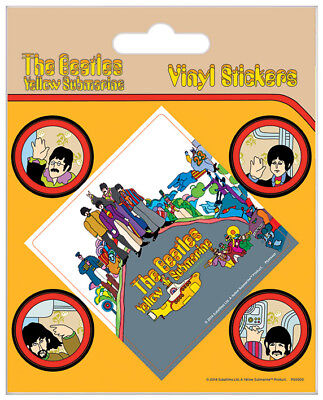 The Beatles (Yellow Submarine) Vinyl Stickers *OFFICIAL PRODUCT*