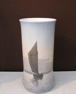 Royal-Copenhague-Vase-Paysage-au-voilier