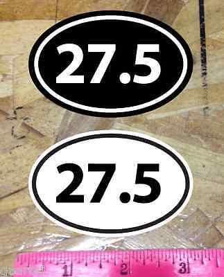 27.5 r Black White Mountain Bike sticker decals 2 for 1