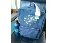 Brand new Jack Wills travel/gym back pack and drinks container