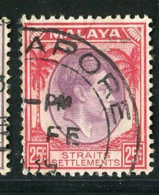 D261477 Malaya Straits Settlements VFU King George VI 25 c. 1937-41 Sc. 246