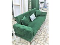 ❄️🥳 FANCY NEW TURKISH LINEN SOFA BED HIGH QUALITY SETTE FAST DELIVERY