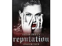 2 tickets for sale of Taylor Swift's reputation Tour on Sat 23 Jun 2018 at Wembley