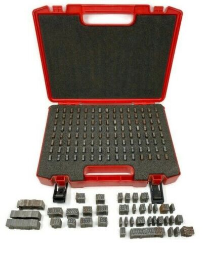 358 pc. HILTI Marking Characters Set Direct Fastening Letters + Numbers w Case