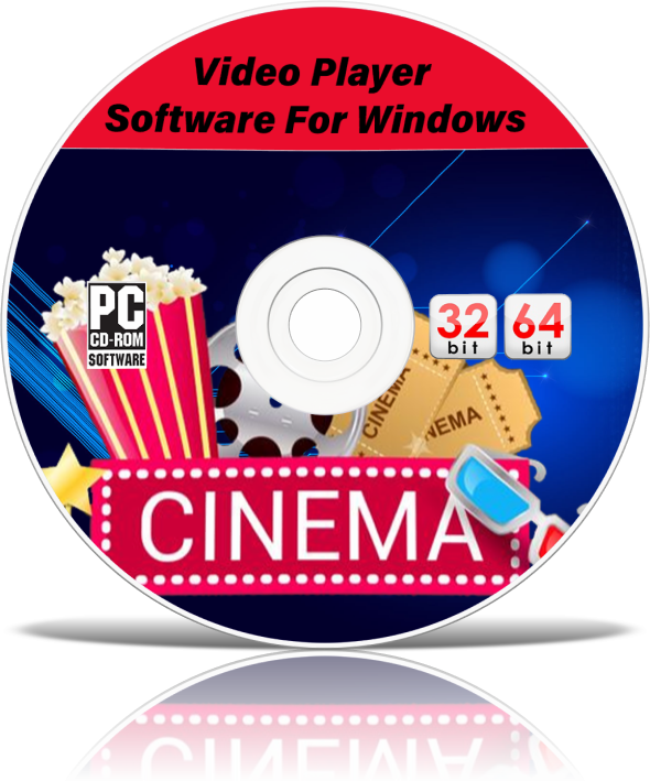 NEW AVI MP4 WMV MPEG DIVX DVD VIDEO MEDIA PLAYER SOFTWARE CD + WINDOWS 7 8 10