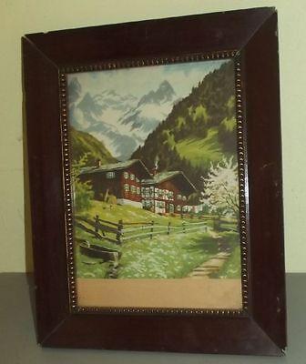 ROMANTISCH: Südtiroler Alpenhäuser um 1910 nach Gemälde