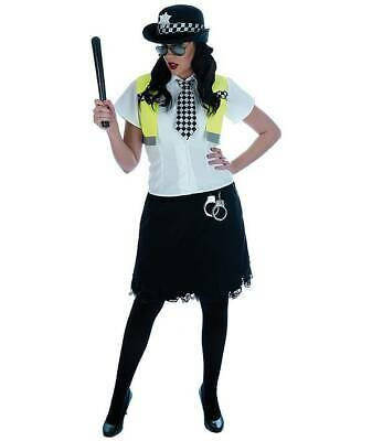 Cute Cop Costumes (WOMANS POLICE OUTFIT CUTE COP SEXY OFFICER FANCY DRESS COSTUME 6 PIECE)
