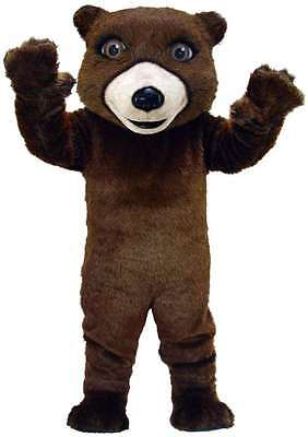 Friendly Grizzly Bear Professional Quality Lightweight Mascot Costume Adult - Grizzly Bear Costumes