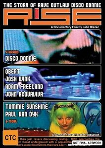 Rise - The Story Of Rave Outlaw Disco Donnie EX RENTAL NOTE DISC ONLY I CAN POST