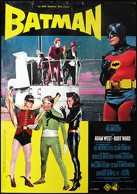 Batman (1966) Adam West cult movie poster print - 1966 Batman Movie Poster
