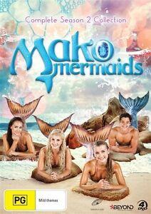 Mako Mermaids : COMPLETE Season 2 (DVD, 2015, 4-Disc Set) NEW