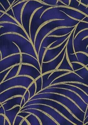 Timeless Treasures Plume/Shimmer CM8664 Navy COTTON FABRIC BTY