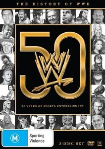 The WWE - History Of WWE - 50 Years of Sports Entertainment (DVD, 2013, 3-Disc S