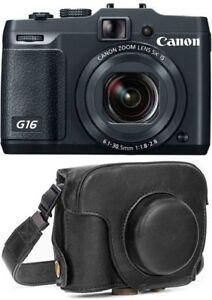 Canon PowerShot G16 12.1MP Digital Camera - Black with Protectiv