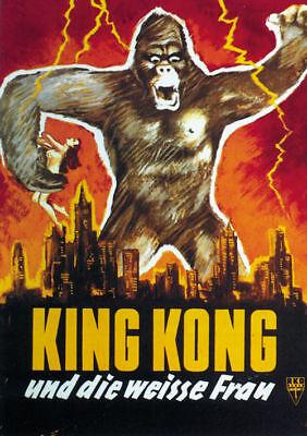 King Kong Fay Wray 1933 Vintage movie poster item 8
