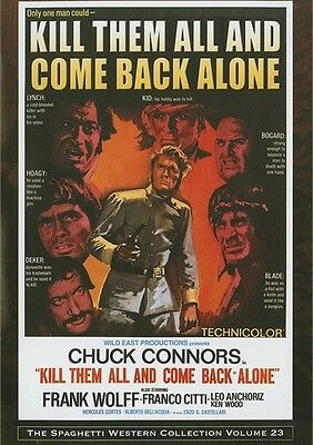 KILL THEM ALL AND COME BACK ALONE CHUCK CONNORS WILD EAST NEW SEALED DVD OOP