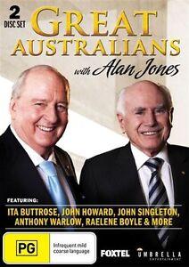 Great Australians With Alan Jones (DVD 2-Disc Set) NEW/SEALED Howard,Buttrose