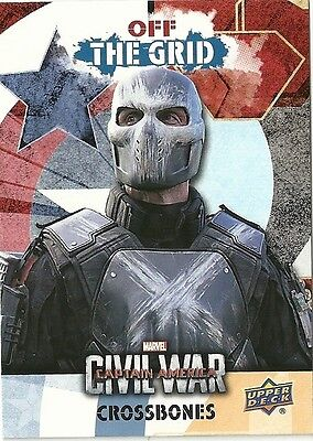 2016 Upper Deck Marvel Captain America Civil War Team Bio Off The Grid Ogb1