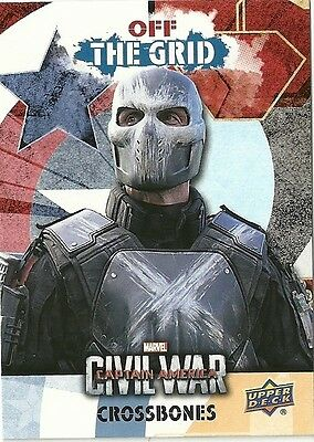 2016 Upper Deck Marvel Captain America Civil War Team Bio Off The Grid Ogb1