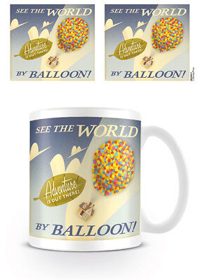 Pixar Up Merchandise (Disney Pixar - UP See The World By Balloon Mug NEW Merchandise)