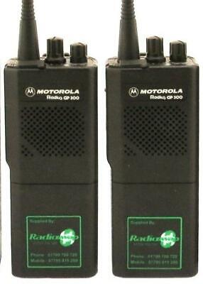 MOTOROLA GP88 UHF 450-470MHZ 4 WATT WALKIE-TALKIE TWO WAY RADIOS x 2