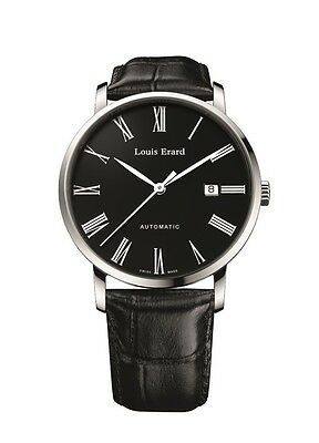 Louis Erard Men's 68233AA02.BDC02 Excellence Automatic Black Leather Date Watch