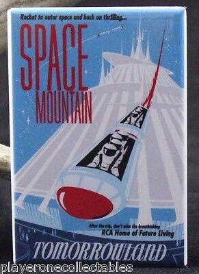 "Space Mountain Tomorrowland Travel Poster - 2"" X 3"" Fridge / Locker Magnet. RCA"