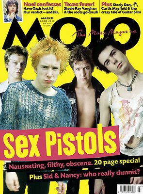 Mojo Magazine March 2000 No 76 Sex Pistols Oasis Noel Texas Steely Dan Smiths ()