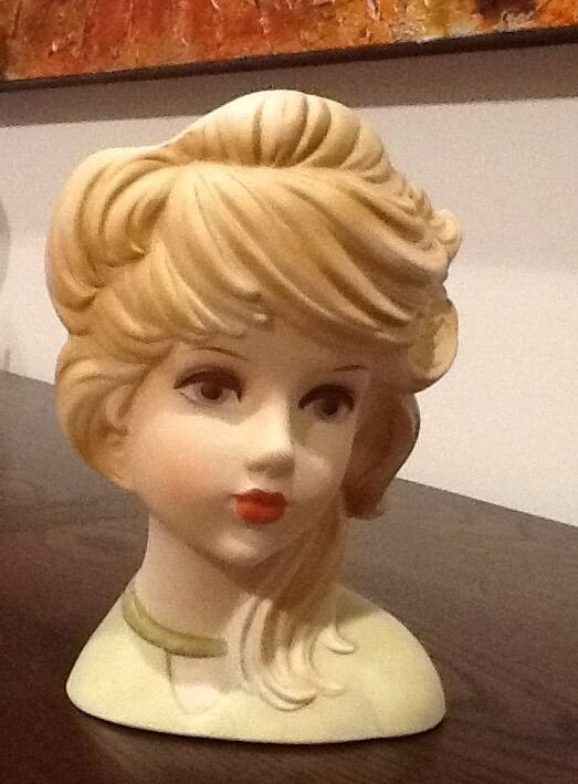 Vintage Lady Head Vase Inarco Ghost Girl Arts Collectibles