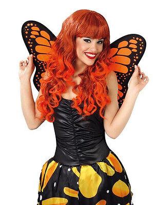 LADIES BEAUTIFUL ORANGE BUTTERFLY WINGS FOR COSTUME FANCY DRESS OUTFIT NEW 50CM (Orange Wings Kostüme)