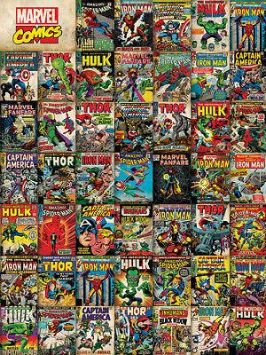Marvel - Avengers Abdeckungen - Bereit Gerahmter Leinwand 60x80cm ()