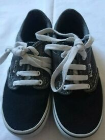 Boys Vans size 13 black & grey. Excellent condition