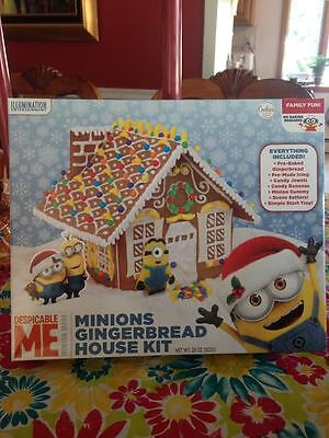 -  Despicable Me Minions Gingerbread House Craft Kit Pre-baked Includes All NIP