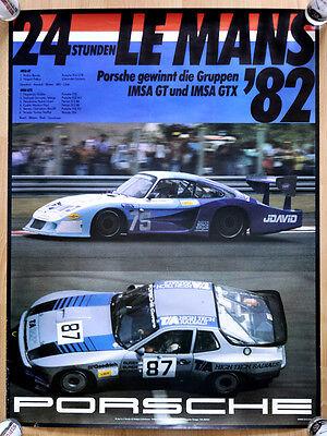 "orginal Porsche Plakat Renn Poster "" Le Mans "" 1982 Klasse GT Porsche 935"