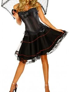 Burlesque Costume Corset Dress & Skirt  Moulin Rouge Fancy Dress Costume Outfit