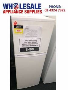 FACTORY SECOND WESTINGHOUSE 180L WHITE TOP MOUNT FRIDGE-WITH WTY East Gosford Gosford Area Preview